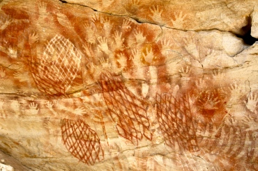 Aboriginal drawings at Cathedral Cave