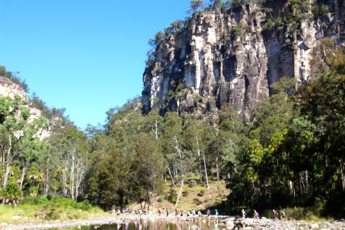 Hard to get scale but these school kids helped, Carnarvon Gorge