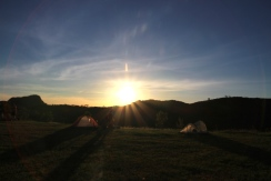 View of sunrise from my tent