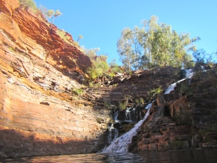 Fortescue Falls from the water, another swim