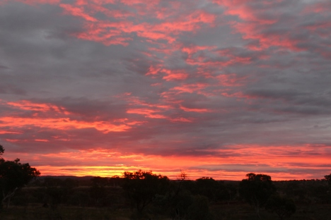 Sunset in Karijini