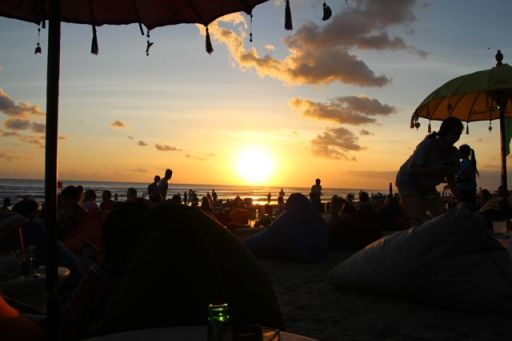Sunsets and beanbags, Bali