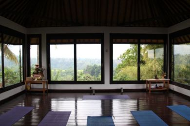 Yoga studio in Ubud