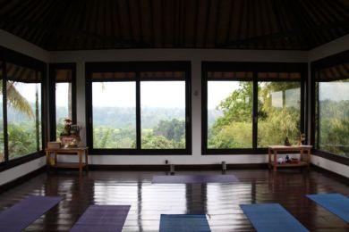 Yoga studio in Ubud