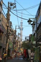 Tokyo Sky Tree from the city streets