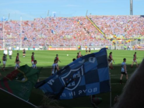 Prematch excitement in Croke Park