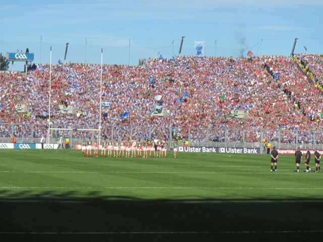 Mayo Team lining out before the game