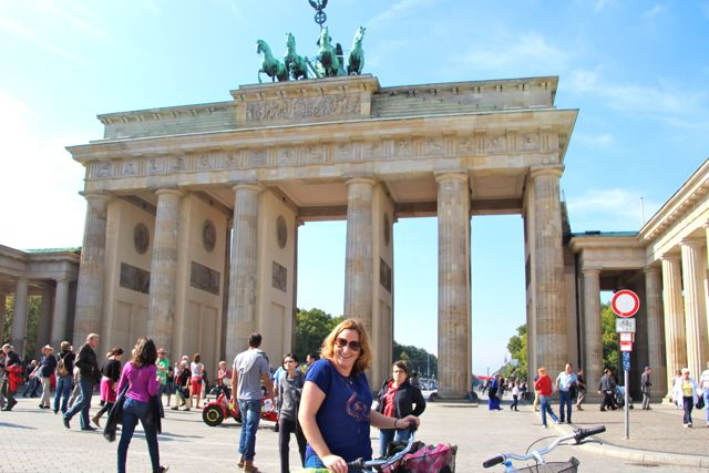 Bike rest at the Brandenburg Gate