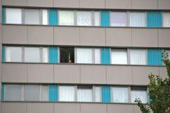 Apartment windows in Berlin