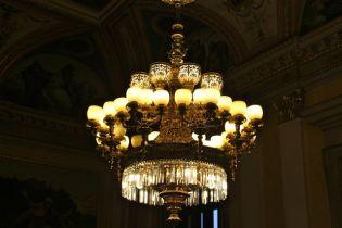 Prague, National Theatre lights