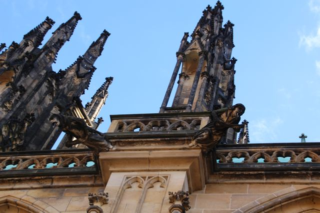 Roof of St. Vitus Cathedral  at Prague Castle