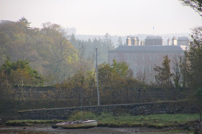 Misty morning views of Westport House