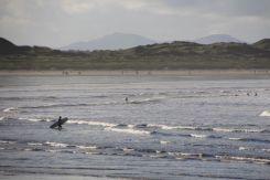 A keen surfer at Enniscrone beach