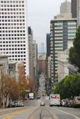 View from a cable car on California St