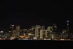 San Francisco by night from Treasure Island