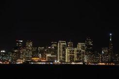 San Francisco by night from Treasure Island
