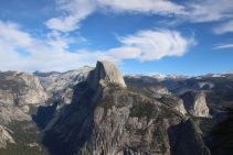 View from Glacier point of Half Dome