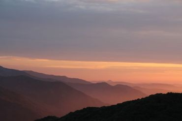 Sunset over the Eleven Ranges