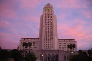 City Hall at sundown