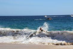 Skimboarding at Divorce Beach