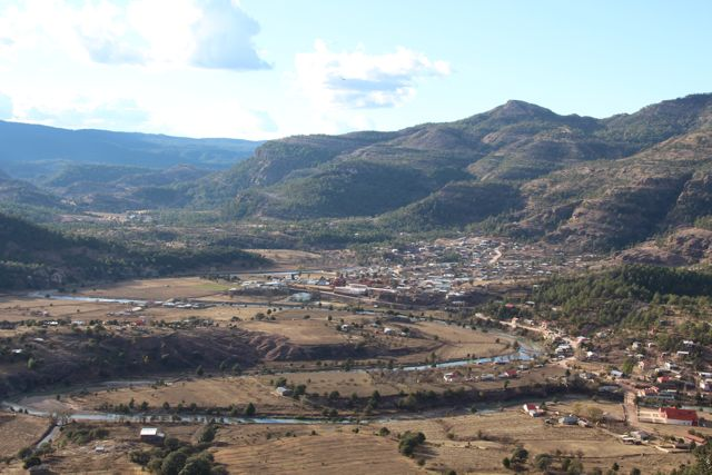 View of Ceracahui village