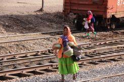 Selling traditional Tarahumara crafts
