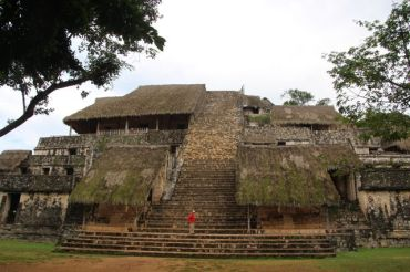 'The Acropolis' is the largest structure at Ek' Balam and is believed to contain the tomb of Ukit Kan Le'k Tok', an important ruler in Ek' Balam. Excavations on it began in 1998, when it was just a mound