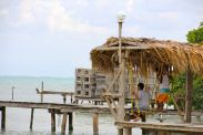 Swings and Lobster pots, Caye Caulker