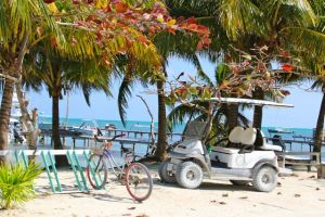 Caye Caulker 'car park'