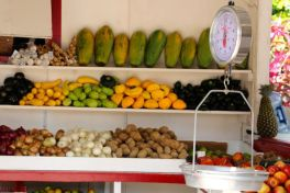 Old school fruit and veg, Caye Caulker