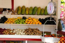 Old school fruit and veg, Caye Caulker