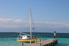 docking at Goffs Caye