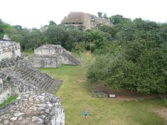 View from the Oval Palace, believed to contain burial relics and its alignment is assumed to be connected to cosmological ceremonies