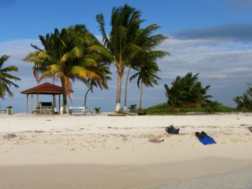 Goffs Caye from the water