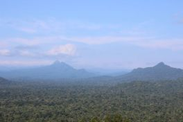 Views of the basin and Victoria Peak, Belize's second highest peak