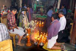 Kneeling at the shrine