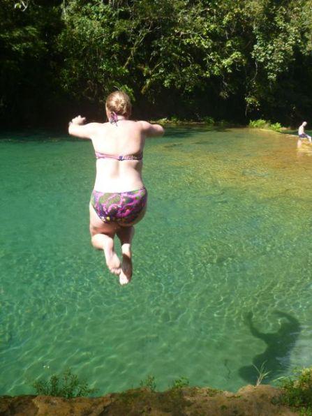Take a run and jump she said!