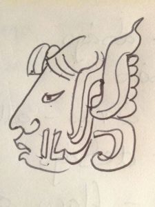 My name in the Mayan language, drawn by my Spanish teacher