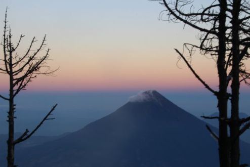 Just before sunset, overlooking Aqua Volcano