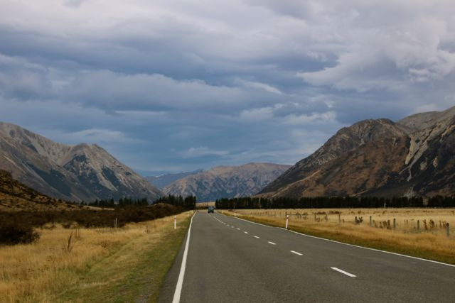 Driving to Arthurs Pass