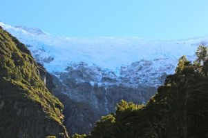 First view of Rob Roy Glacier from the trail