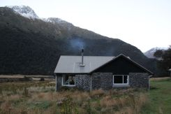 Mt Aspiring Hut, a welcome sight after a long day tramping