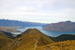 Almost there, looking towards Queenstown and Lake Wakatipu