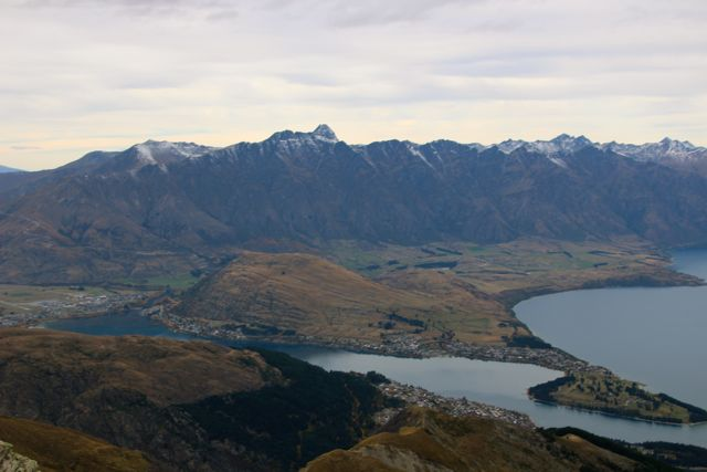 Queenstown from the summit of Ben Lomond
