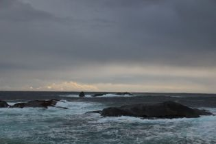 Edge of the sound, meeting the Tasman Sea