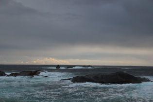 Edge of the sound, meeting the Tasman Sea