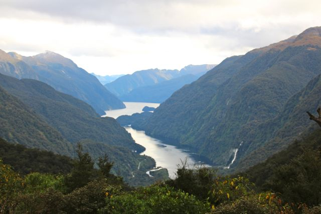 First glimpse of Doubtful Sound from the Wilmont Pass