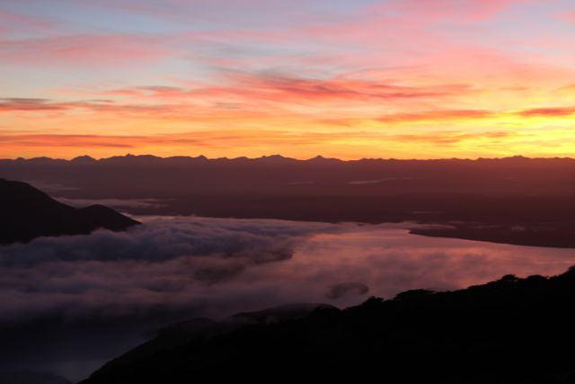 Sunrise Views from Luxmore Hut on my birthday :-)