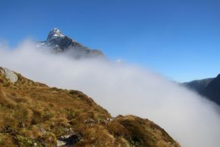 Clouds evaporating at MacKinnon Pass