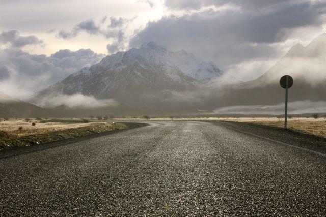 Driving towards Mt Johnson